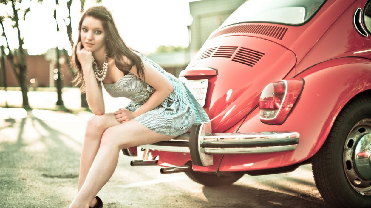 women model cars volswagon wallpaper