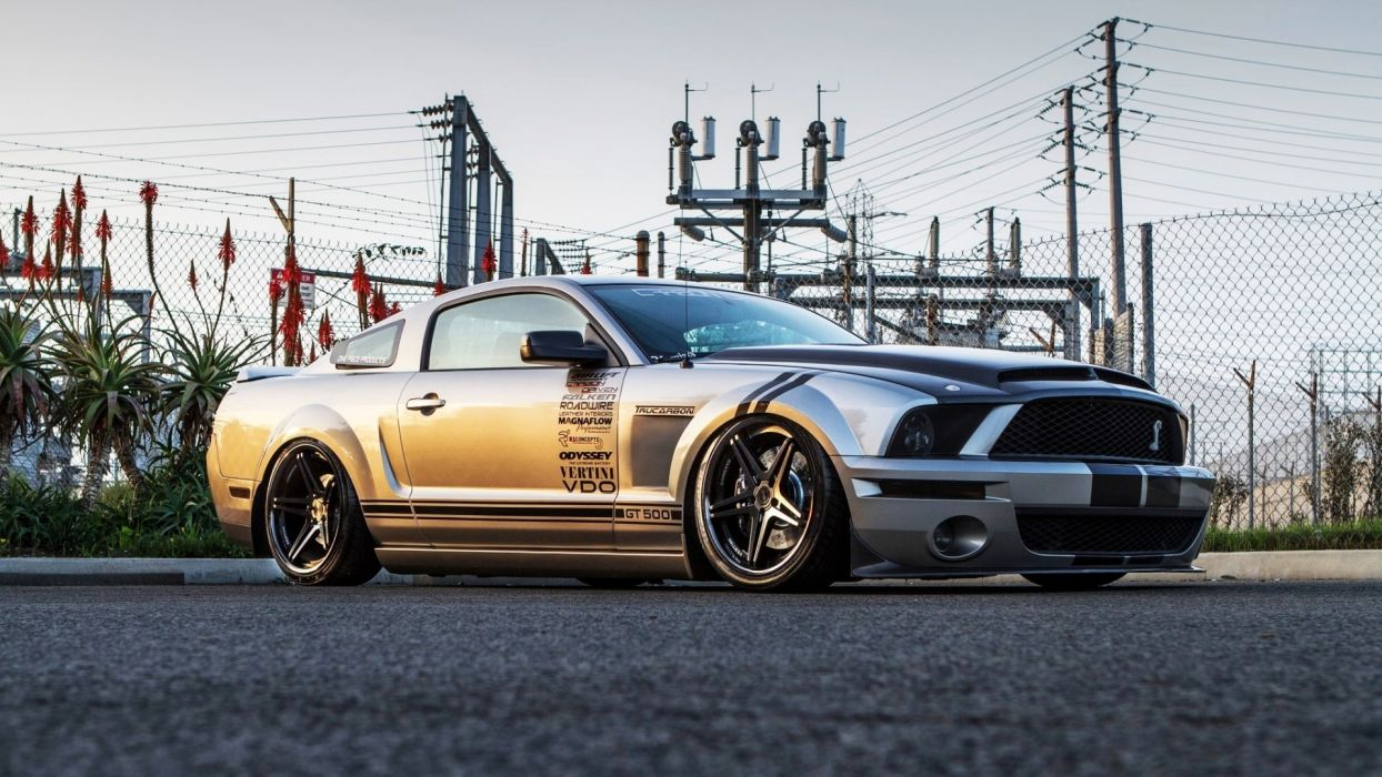Shelby gt500 black ford mustang cobra gt 500 supersnake tuning wallpaper
