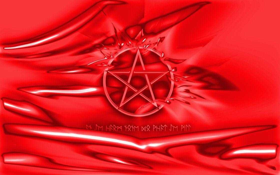 dark occult red satan penta evil demon wallpaper