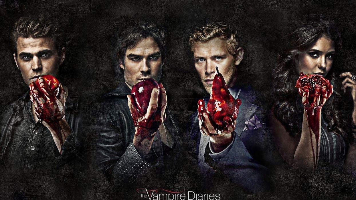 Vampire Diaries dark horror blood heart wallpaper
