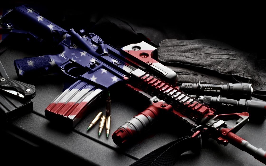 weapons usa america guns mech machine bullet ammo ammuntion flag wallpaper