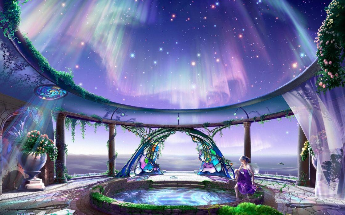 gate yutaka kagaya celestial exploring Cg wallpapers hearty welcome starry tales art fantasy wallpaper
