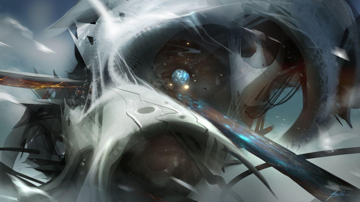sci fi futuristic art wallpaper