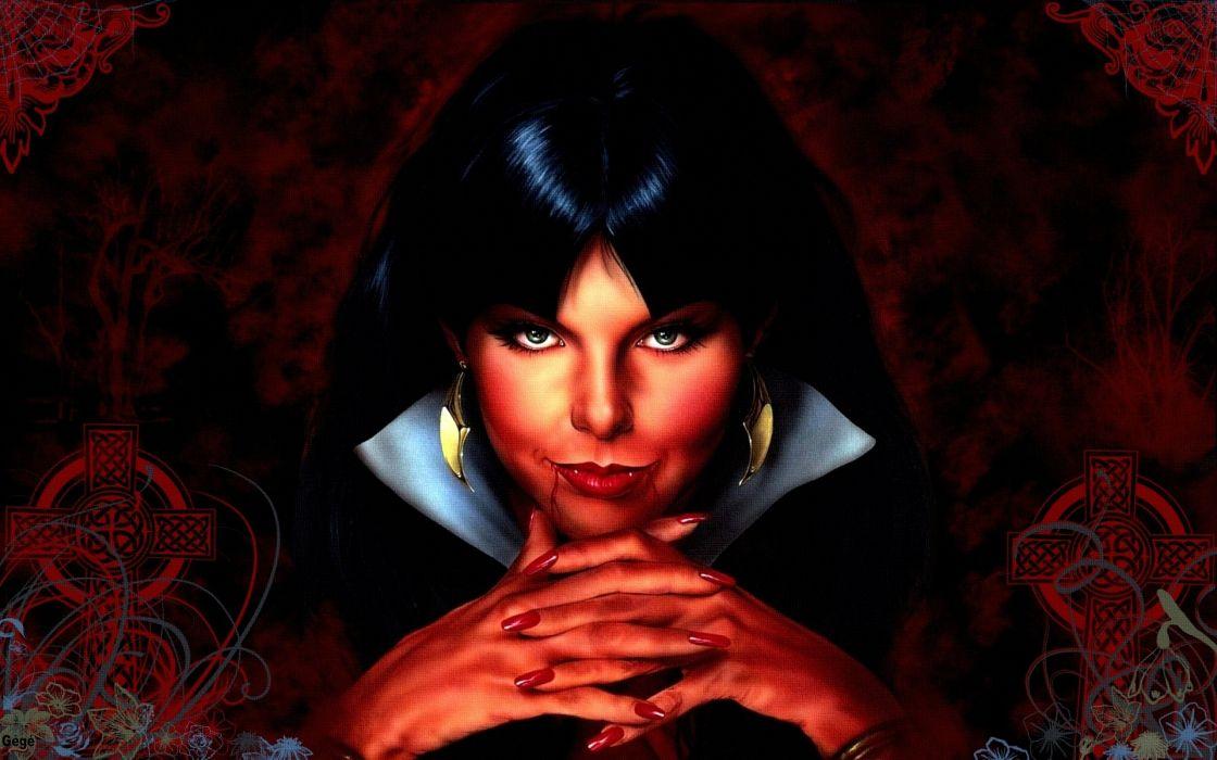 dark fantasy vampire horror wallpaper