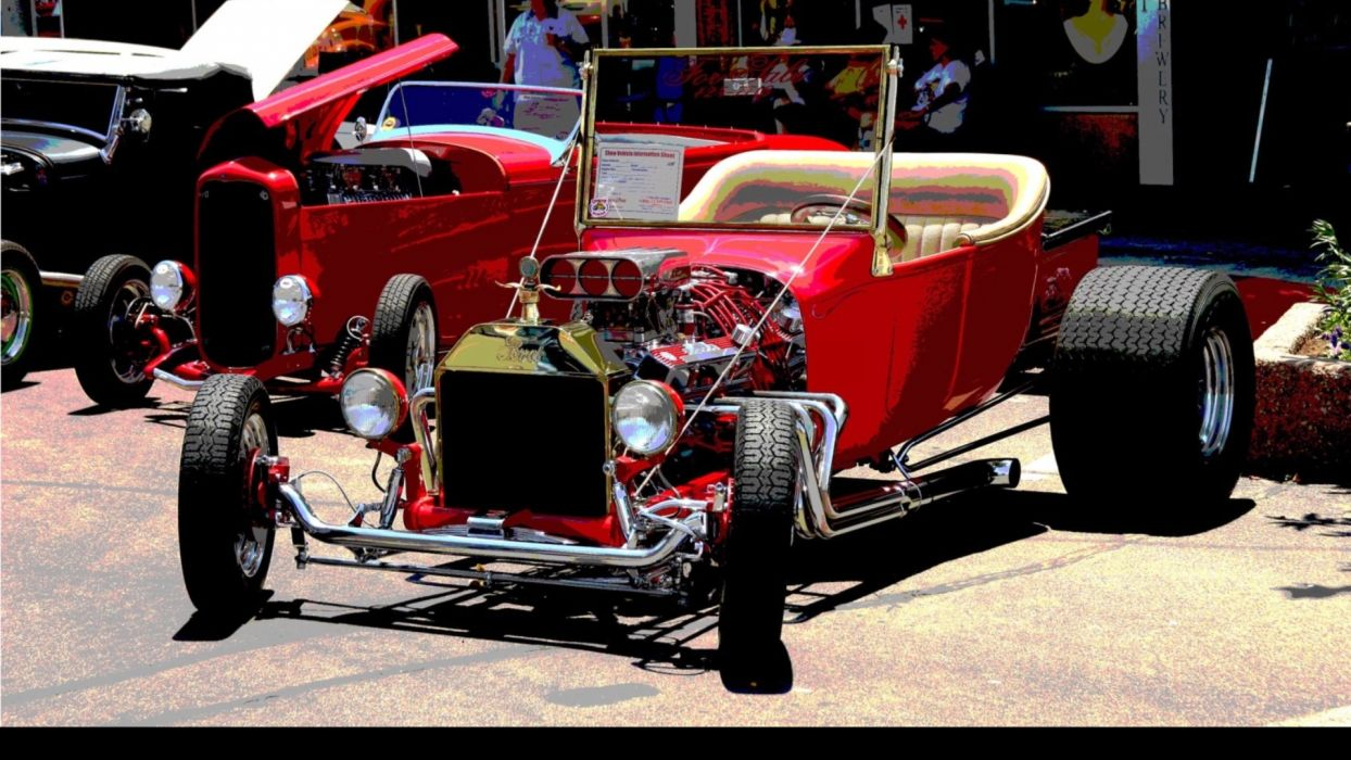 ford hot rod retro classic cars wallpaper