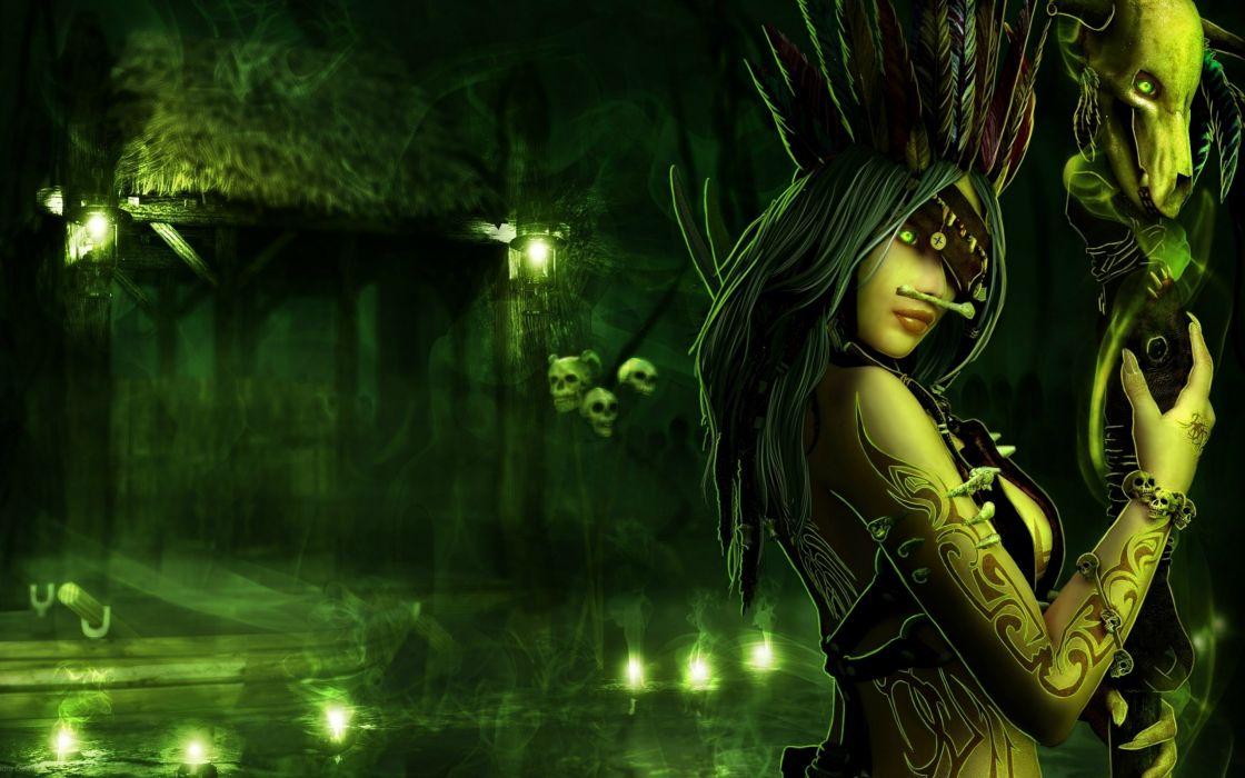 fantasy dark witch art wallpaper