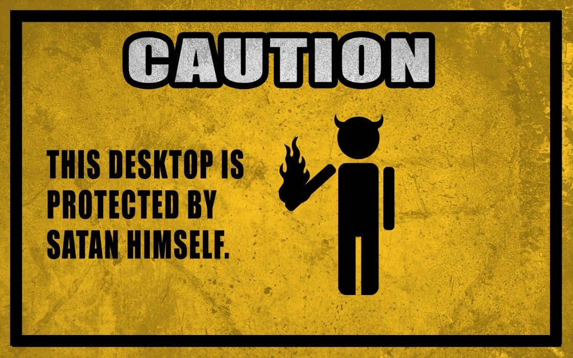 humor sadic evil satan computer tech demon wallpaper