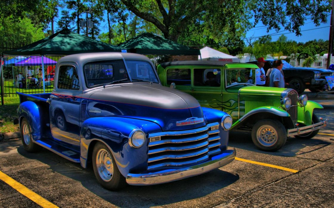 hdr retro hot rod classic cars tuning wallpaper
