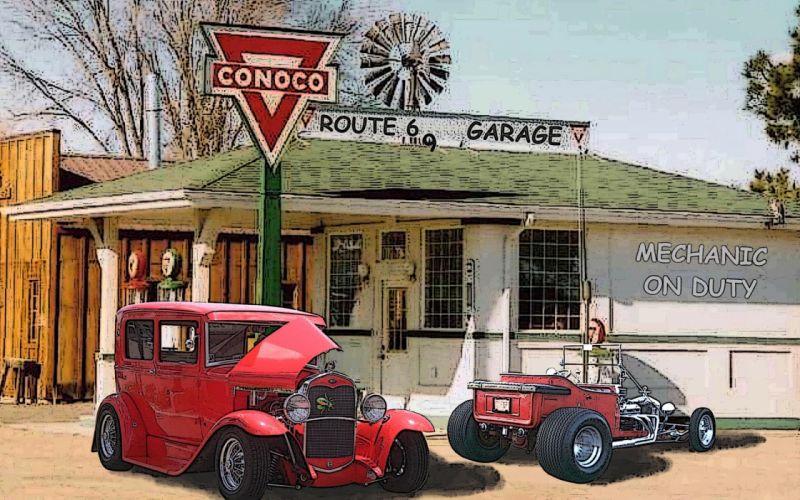 hot rod retro classic wallpaper
