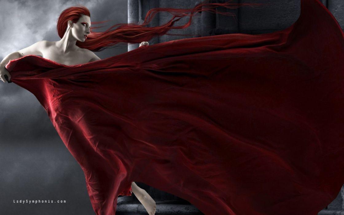 fantasy dark vampire horror women art gothic wallpaper