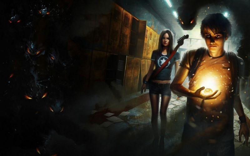 situation dark horror magic fantasy art weapon mood wallpaper