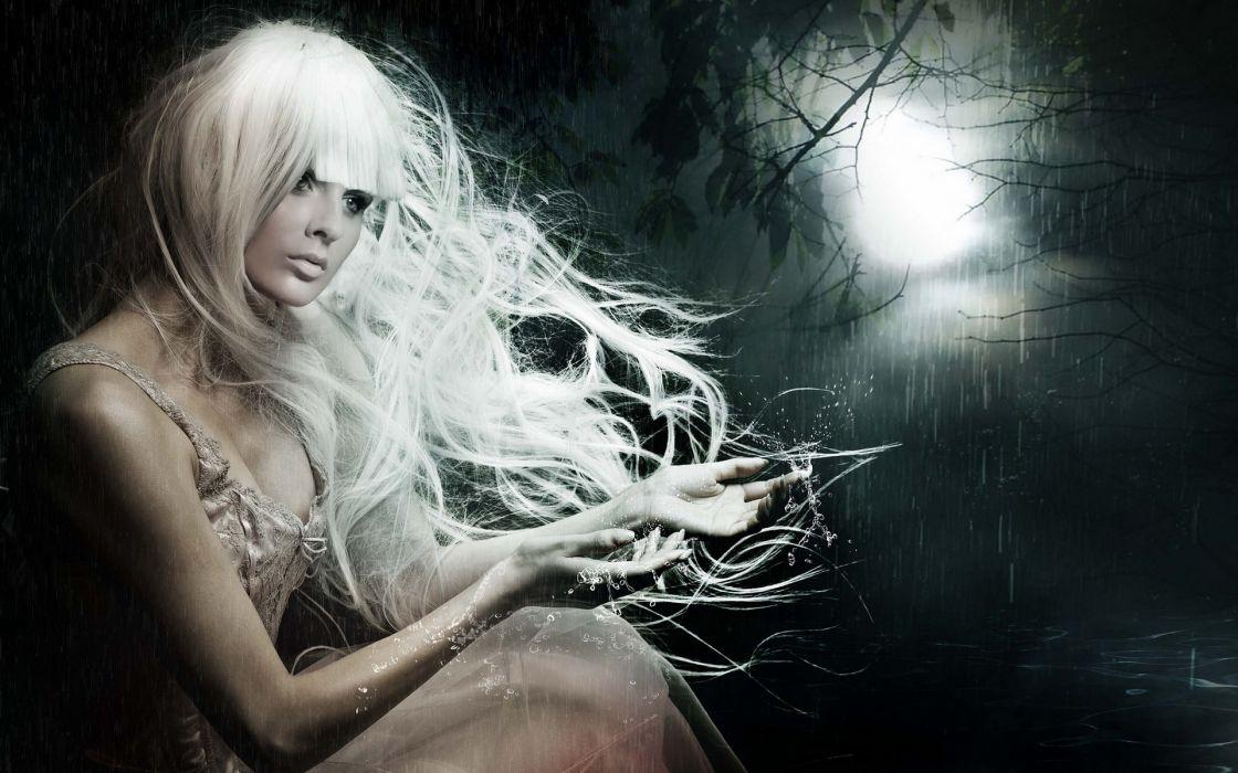 fantasy dark gothic ghost art women wallpaper