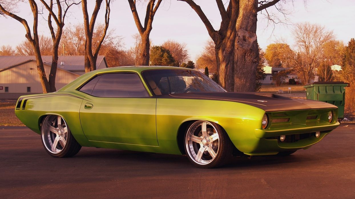 plymouth barracuda hot rod custom tuning wallpaper