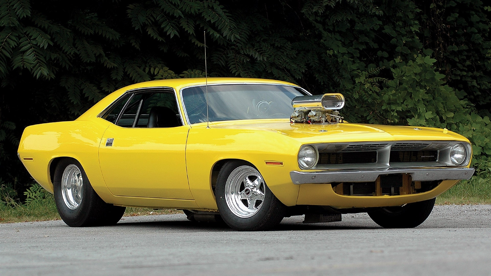 Plymouth barracuda hot rod tuning yellow classic muscle ...
