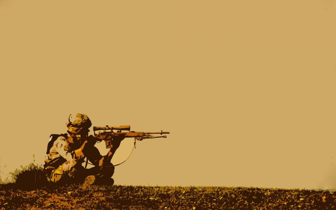 military warrior soldiers weapon guns sniper wallpaper