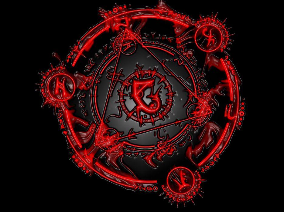dark horror occult evil symbol wallpaper