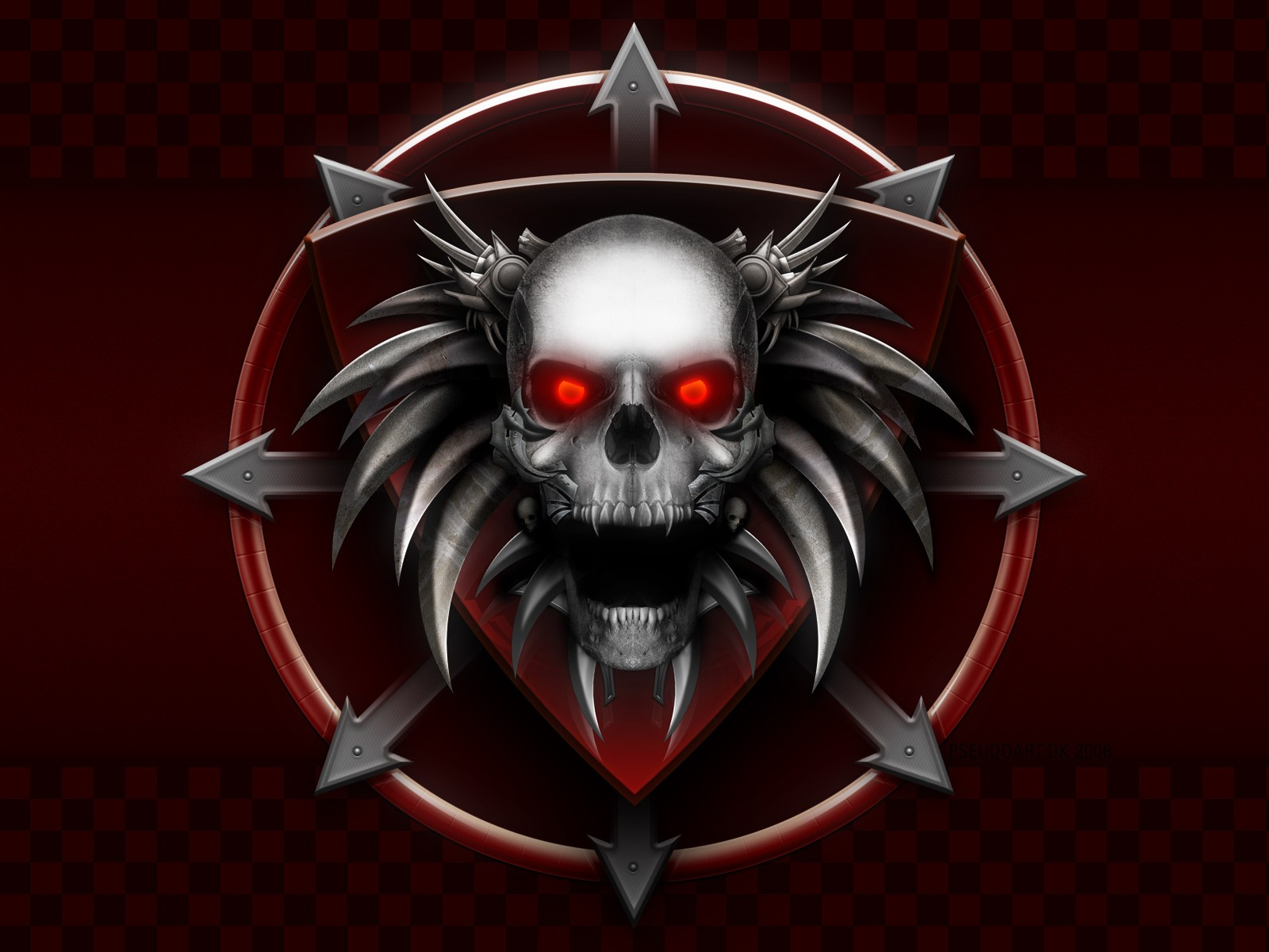 evil demon skulls wallpaper -#main