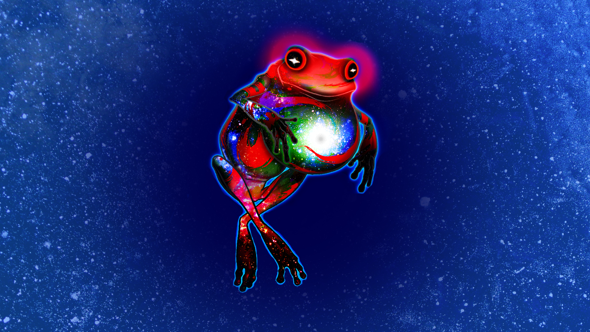 Animal frog psychedelic sci fi space planets stars humor ...