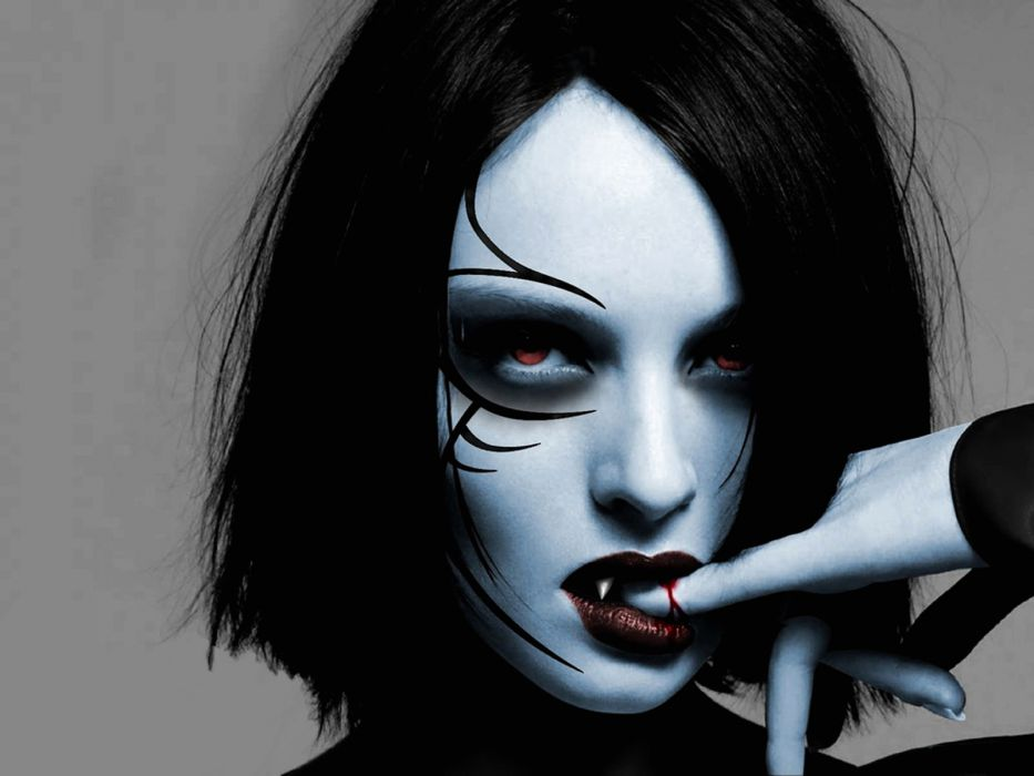 dark horror evil vampire fantasy gothic women wallpaper