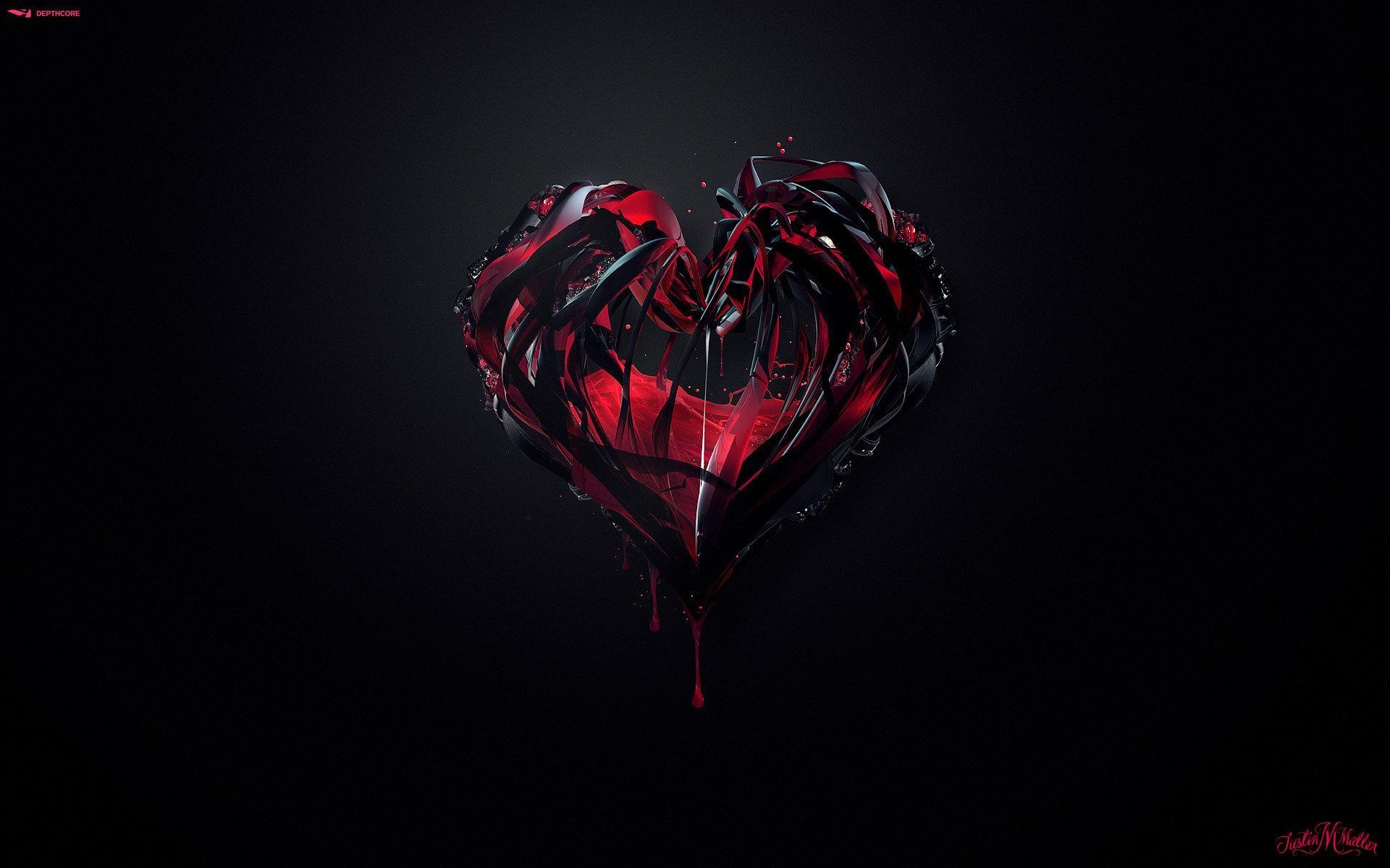 Gothic Heart Love Romance Valentines Wallpaper