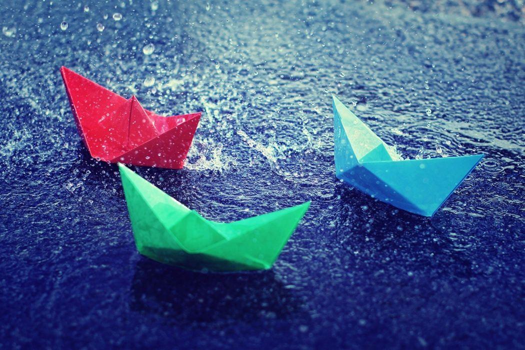 mood bokeh rain puddle boats zen wallpaper