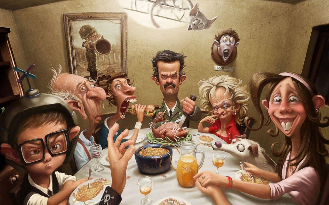 thanksgiving humor art situation cartoon people wallpaper