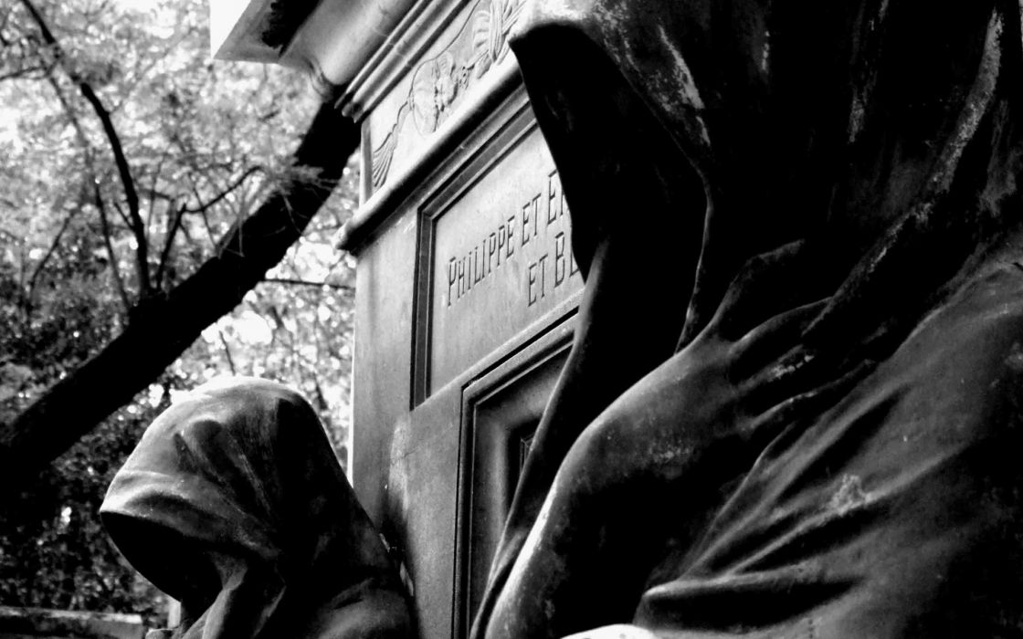 Dark Gothic Death Reaper Grave Cemetery Black Photography