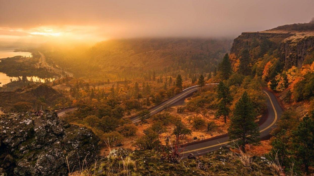 nature landscapes sunset wallpaper