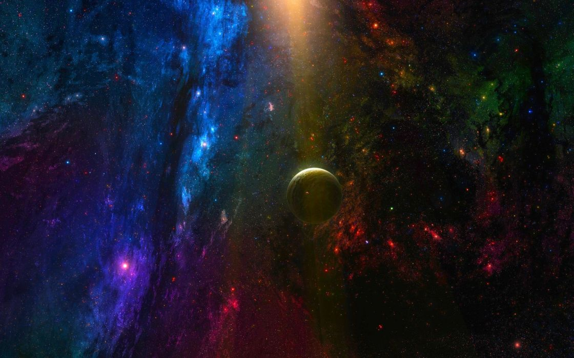 sci fi space nebula stars wallpaper