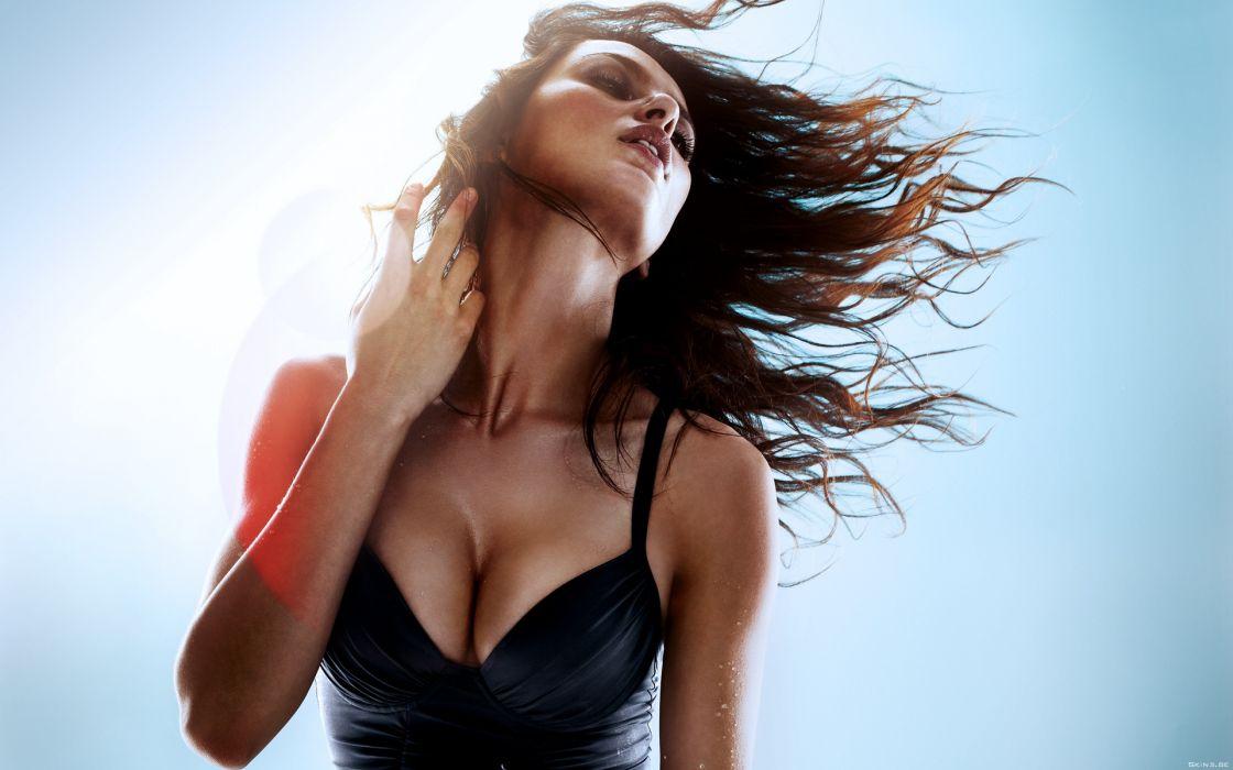 Catrinel Menghia women model sexy brunette wallpaper