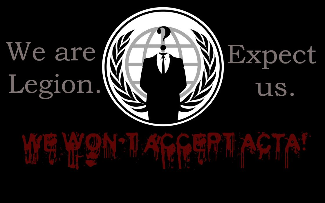 Anonymous dark anarchy computer internet wallpaper