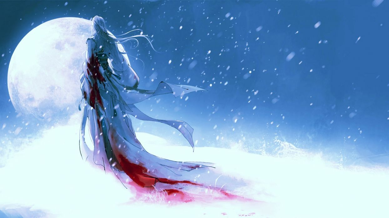 fantasy dark blood horror art wallpaper