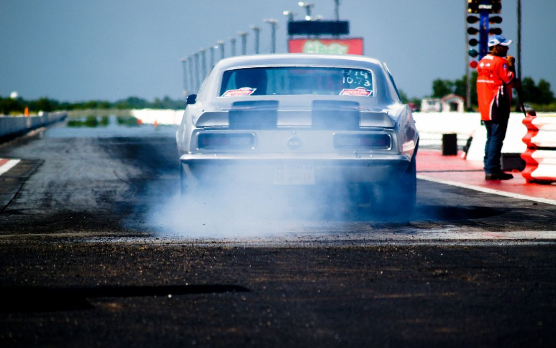 chevrolet camaro drag racing track muscle hot rod wallpaper