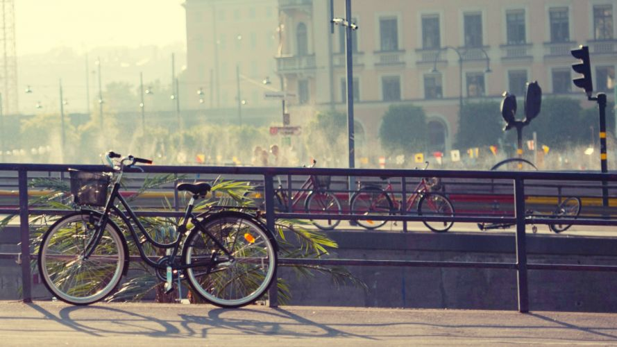 bicycles mood cities wallpaper