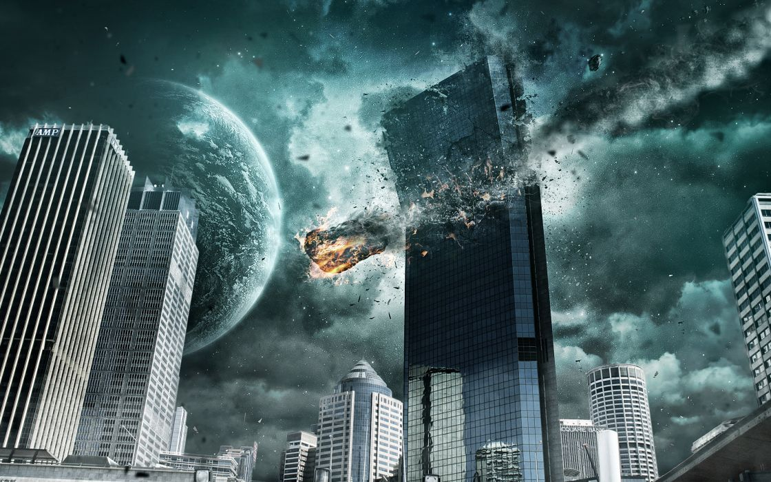 sci fi apocalyptic destruction cities wallpaper
