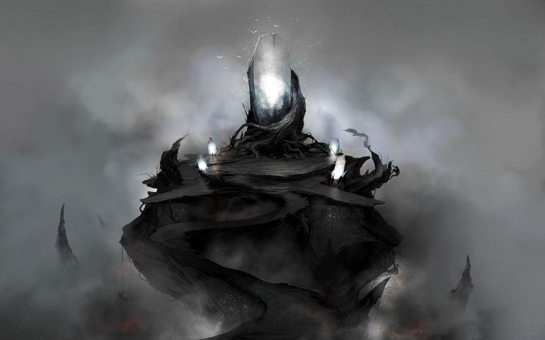 Fantasy Dark Magic Art Wallpaper