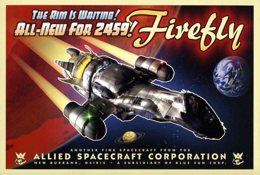 Firefly Serenity Spaceship sci fi spacecraft wallpaper