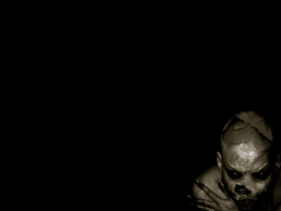 dark horror gothic art skull wallpaper