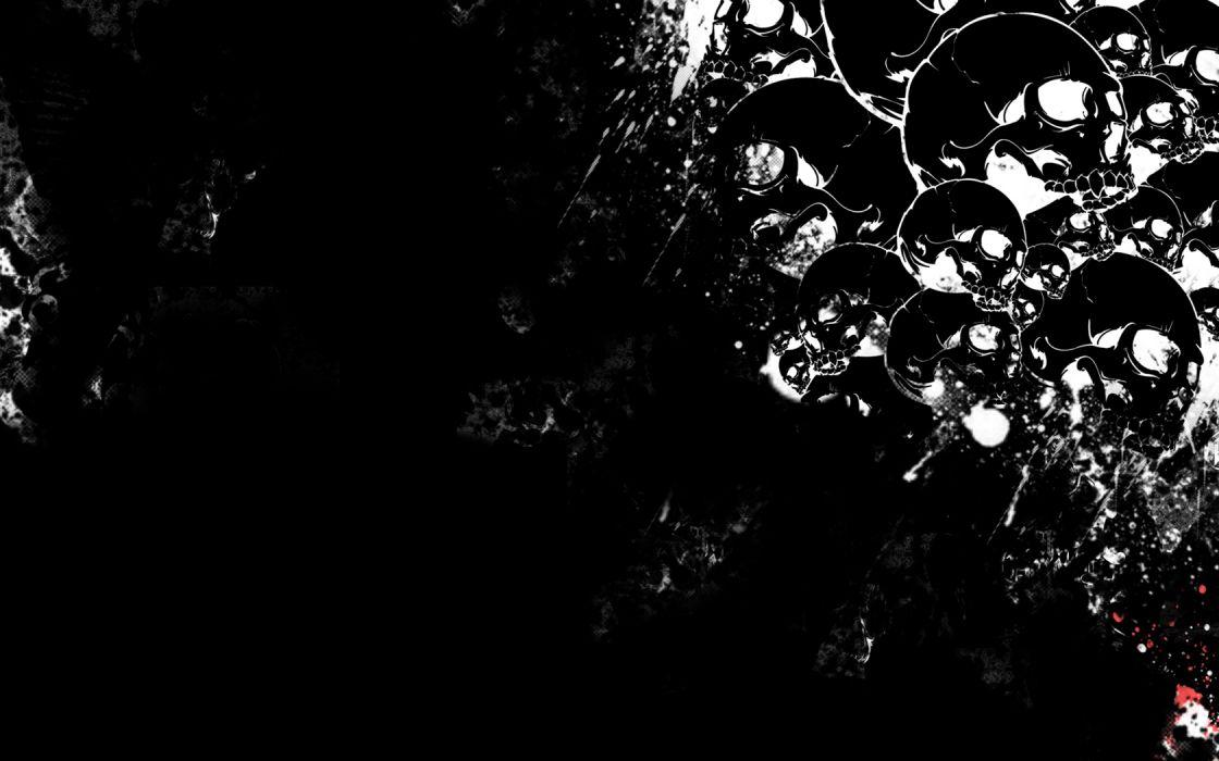 dark horror skull wallpaper