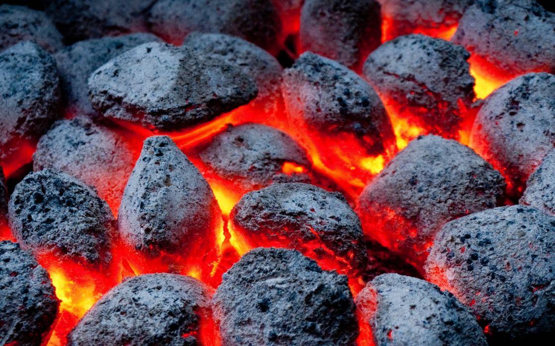 fire coals color wallpaper