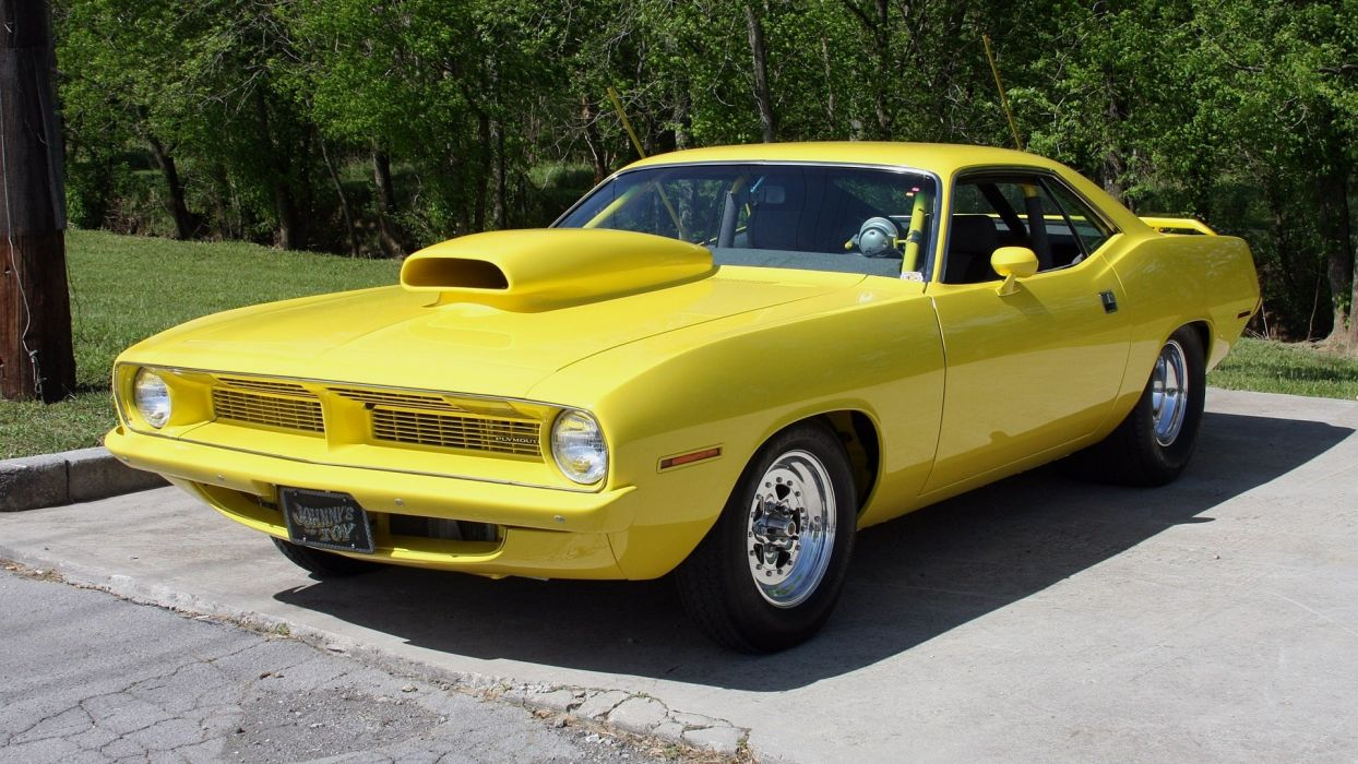 plymouth barracuda hot rod muscle cars wallpaper