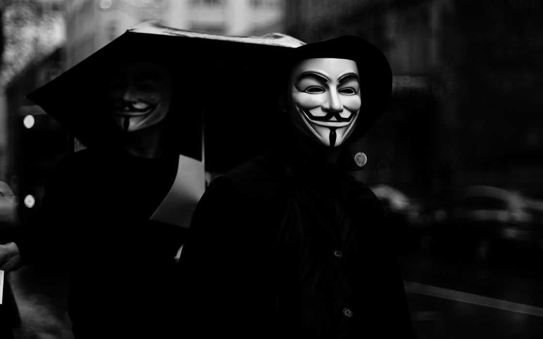 Anonymous dark anarchy mood mask wallpaper