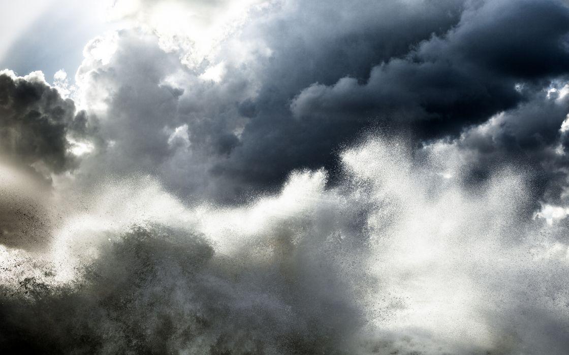 sky ocean drops wallpaper