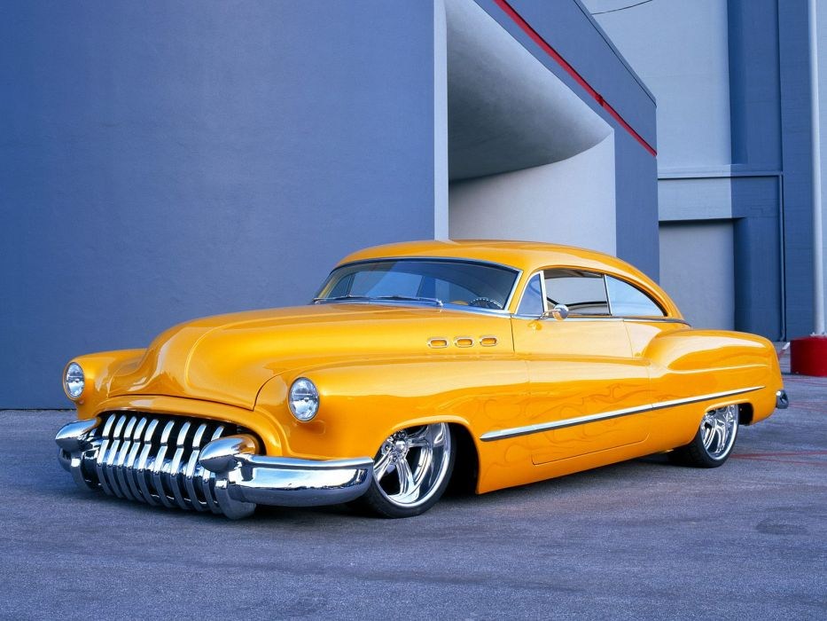 Buick Sedanette 1950 low custom tuning hot rod retro wallpaper
