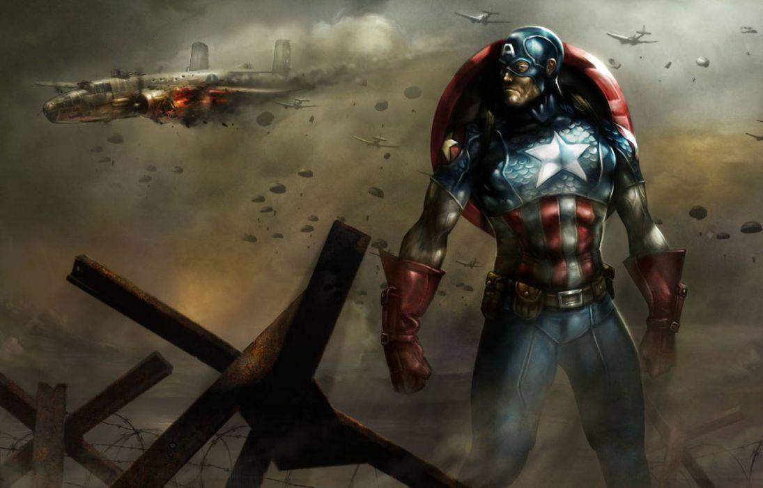 Captain America comics art superhero wallpaper