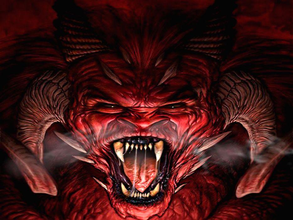 dark horror demon fantasy wallpaper