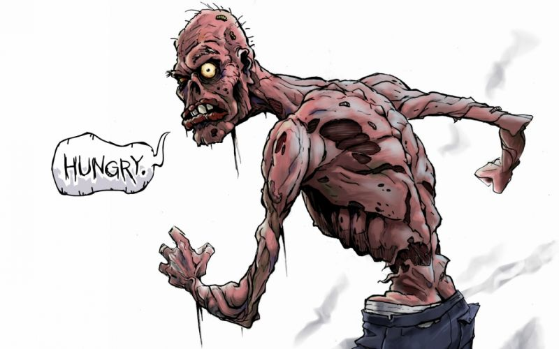 dark horror zombie wallpaper