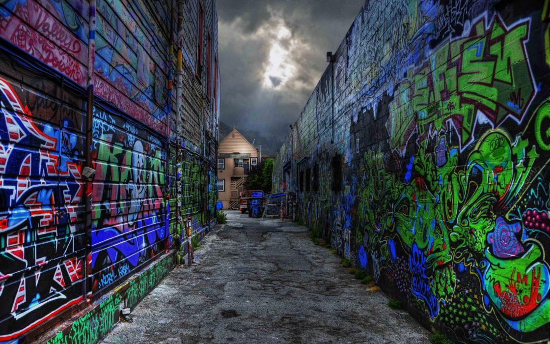 graffiti paint urban wall wallpaper