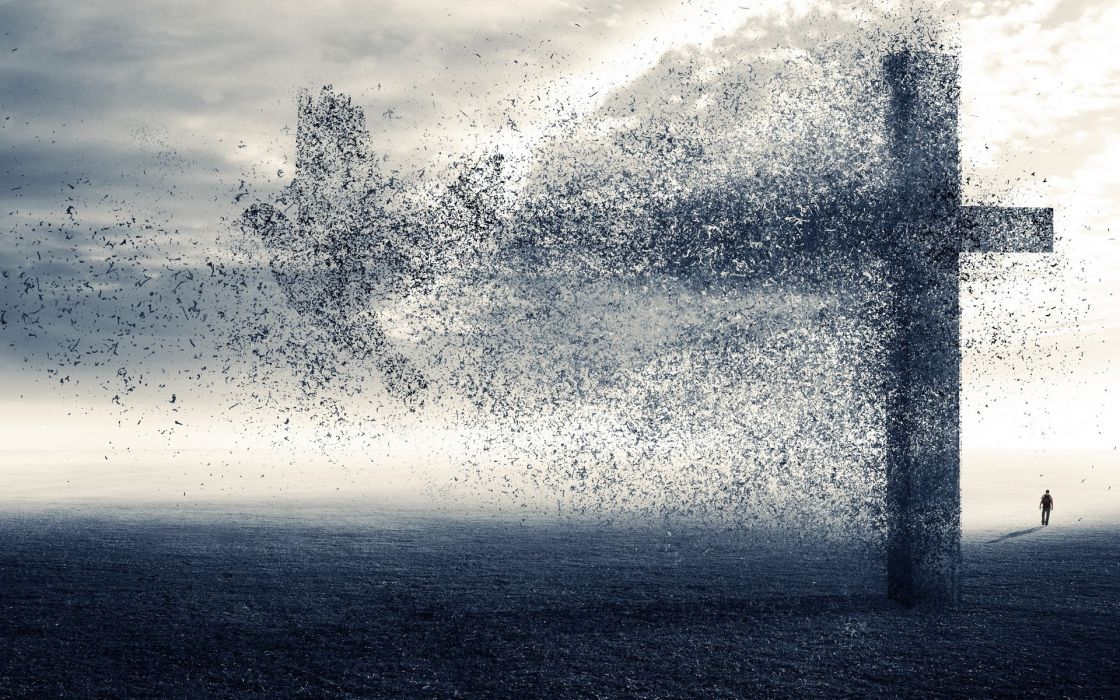 religious death mood sad sorrow cross dark horror wallpaper