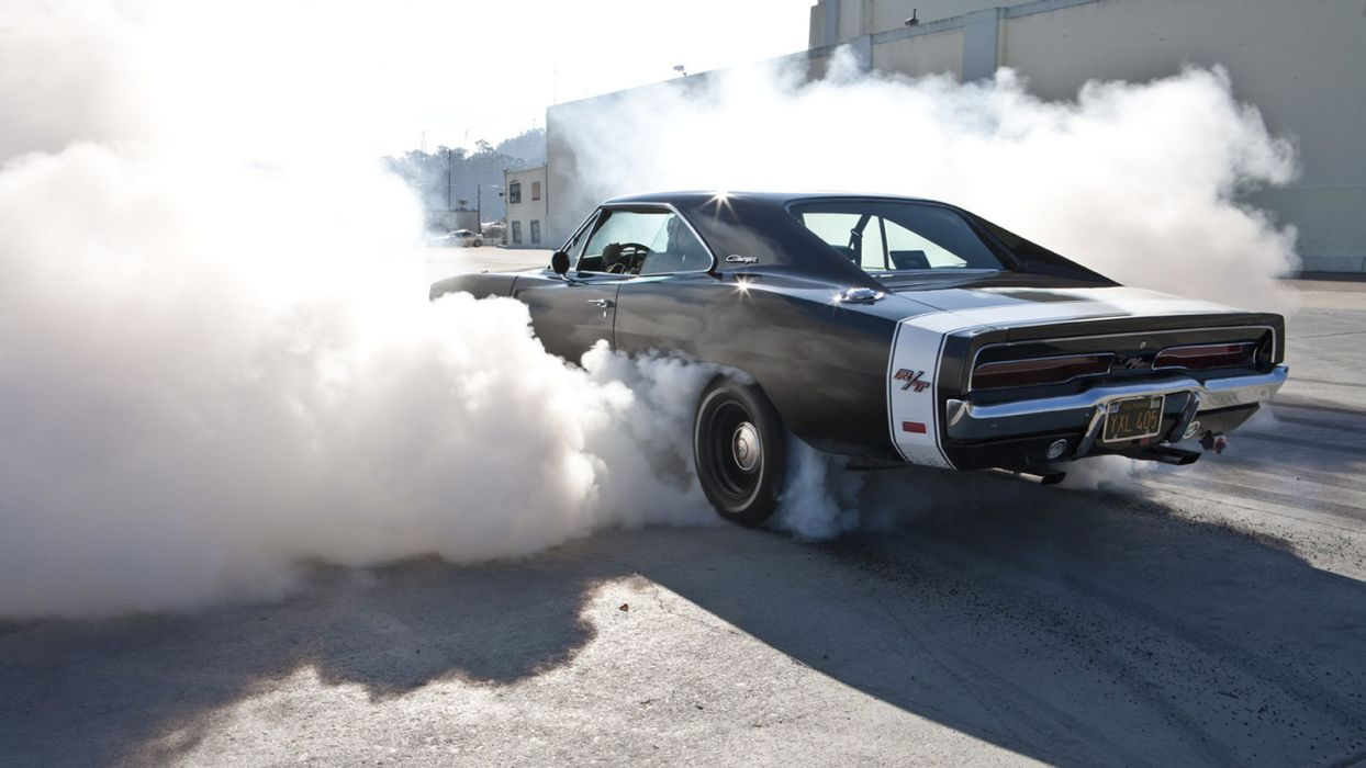 dodge charger hot rod muscle cars burnout race track drag racing wallpaper